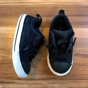 Navy and Black Converse